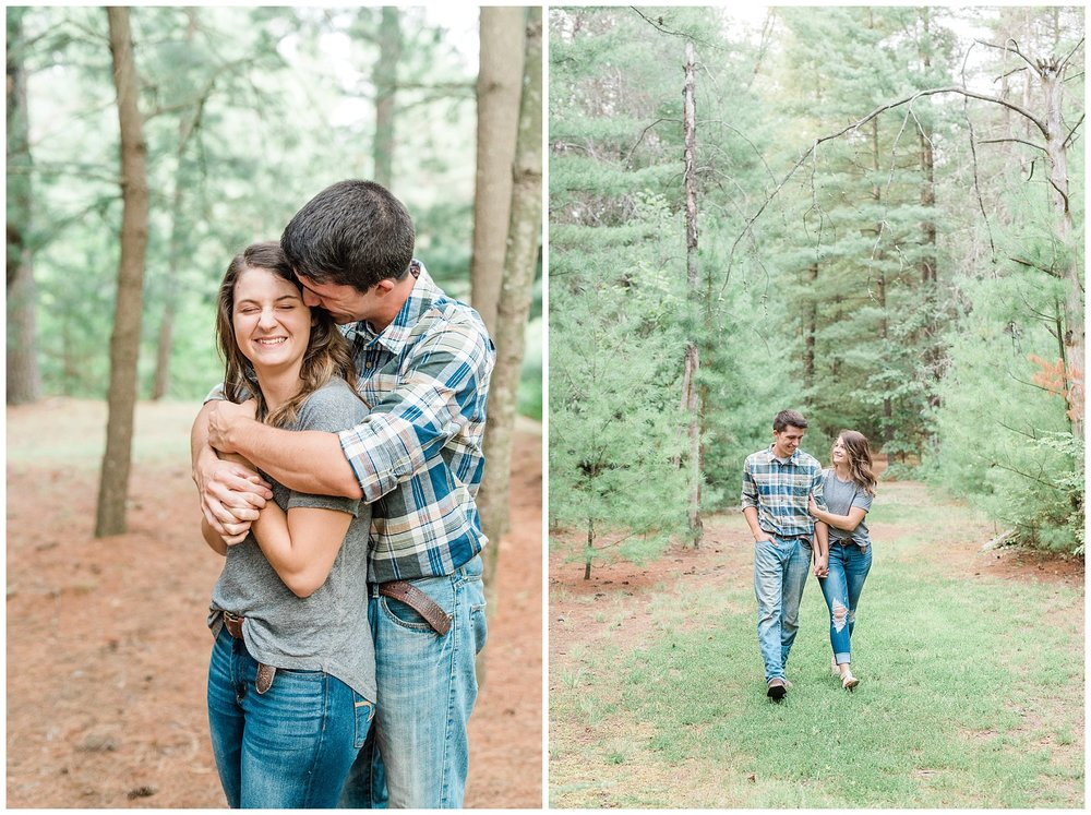 Wanderlust Engagement Session in the Pines with Sunset Canoe Ride in Blue Green Lake in Mid Missouri by Kelsi Kliethermes Photography_0001.jpg