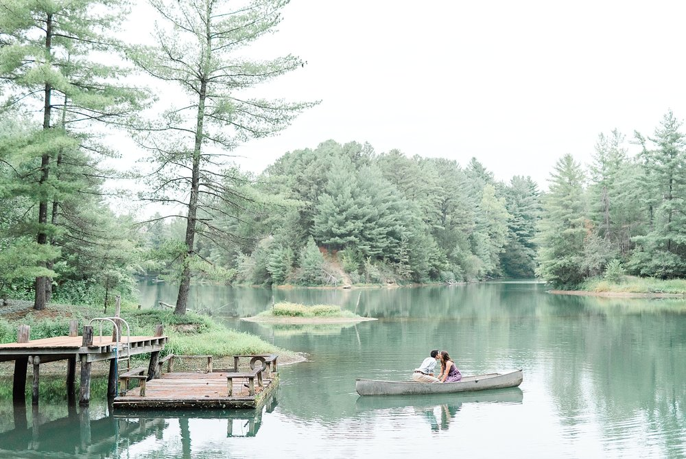 Wanderlust Engagement Session in the Pines with Sunset Canoe Ride in Blue Green Lake in Mid Missouri by Kelsi Kliethermes Photography_0009.jpg