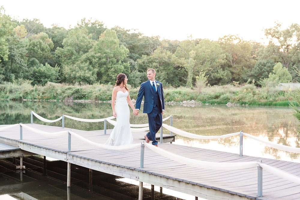 Romantic Summer Sunset Wedding Ceremony at Little Piney Lodge St. Louis Missouri by Kelsi Kliethermes Photography Fine Art Photographer_0017.jpg