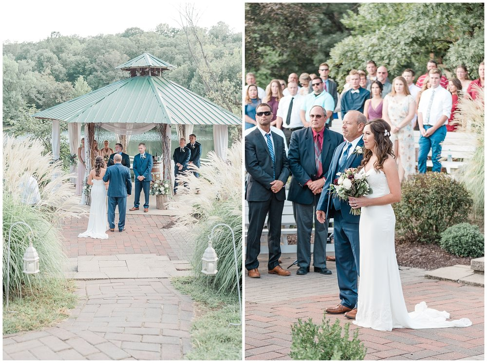 Romantic Summer Sunset Wedding Ceremony at Little Piney Lodge St. Louis Missouri by Kelsi Kliethermes Photography Fine Art Photographer_0053.jpg