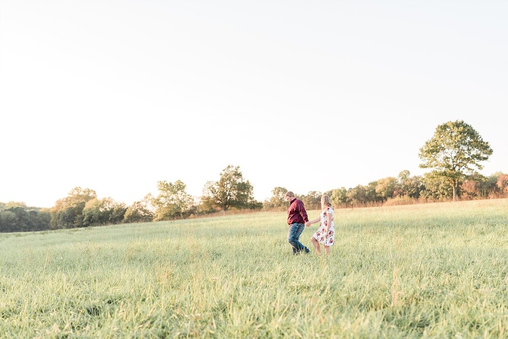 Autumn Golden Sunset Engagement Session on Farm in Missouri by Kelsi Kliethermes Photography_0002.jpg