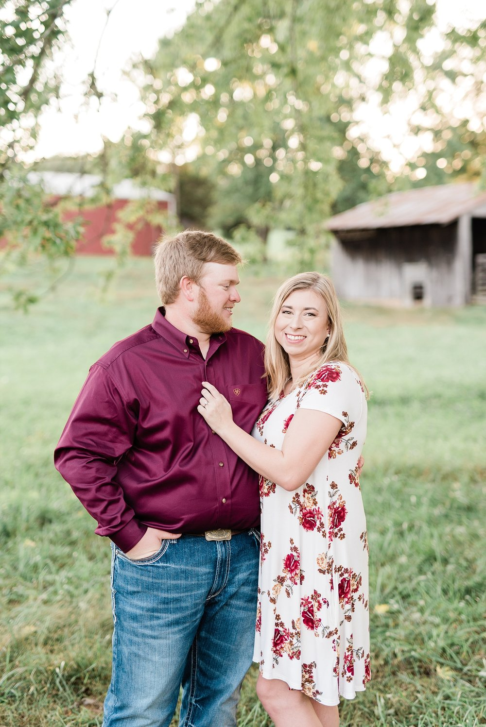 Autumn Golden Sunset Engagement Session on Farm in Missouri by Kelsi Kliethermes Photography_0005.jpg