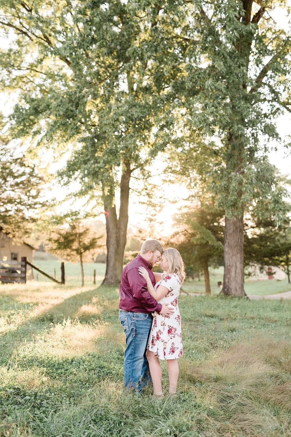 Autumn Golden Sunset Engagement Session on Farm in Missouri by Kelsi Kliethermes Photography_0006.jpg