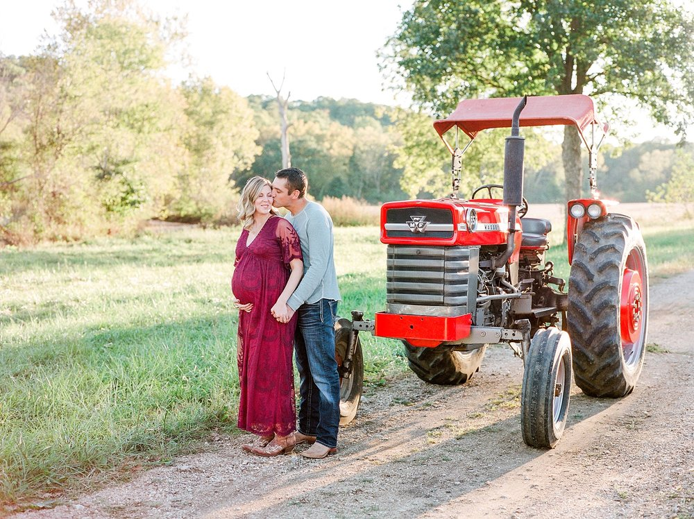 Sunset Maternity Session on Family Farm in Mid Missouri by Kelsi Kliethermes Photography_0014.jpg