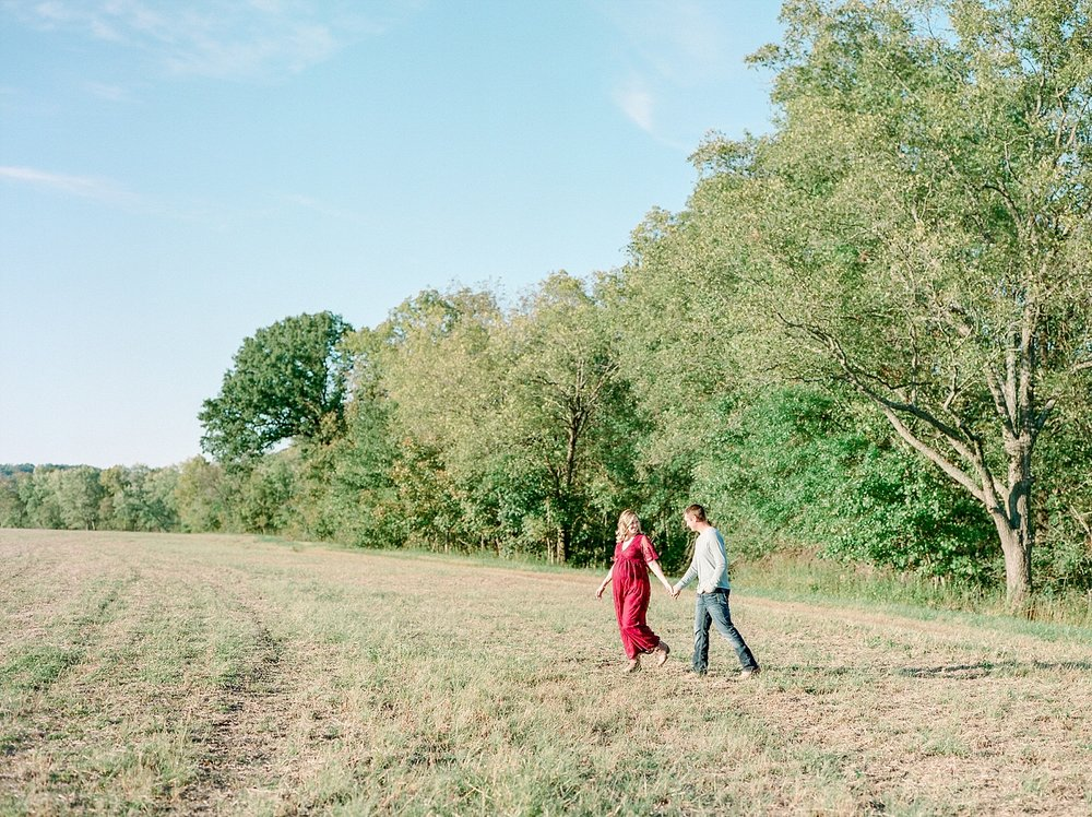 Sunset Maternity Session on Family Farm in Mid Missouri by Kelsi Kliethermes Photography_0005.jpg