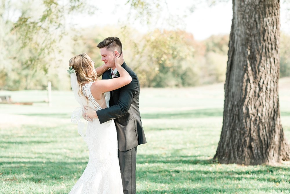 Golden Autumn Outdoor Wedding with Ivory, Bergundy, and Blush Color Palette at Blue Bell Farms  by Kelsi Kliethermes Photography_0010.jpg