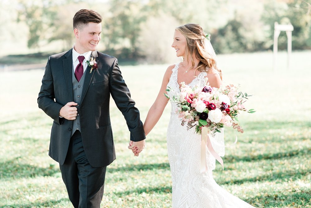 Golden Autumn Outdoor Wedding with Ivory, Bergundy, and Blush Color Palette at Blue Bell Farms  by Kelsi Kliethermes Photography_0012.jpg