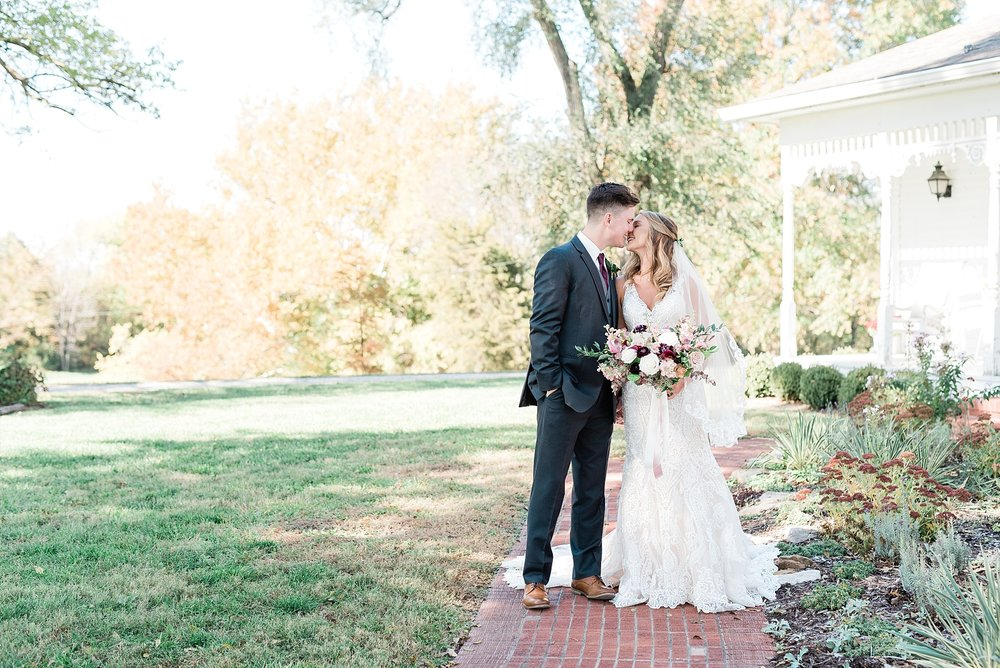 Golden Autumn Outdoor Wedding with Ivory, Bergundy, and Blush Color Palette at Blue Bell Farms  by Kelsi Kliethermes Photography_0013.jpg