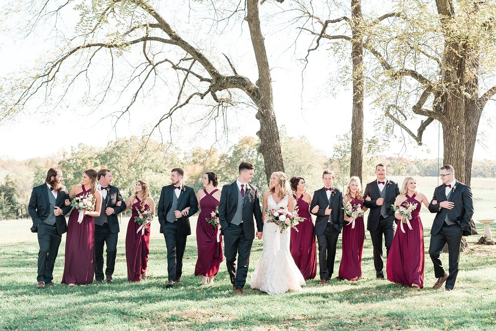 Golden Autumn Outdoor Wedding with Ivory, Bergundy, and Blush Color Palette at Blue Bell Farms  by Kelsi Kliethermes Photography_0015.jpg