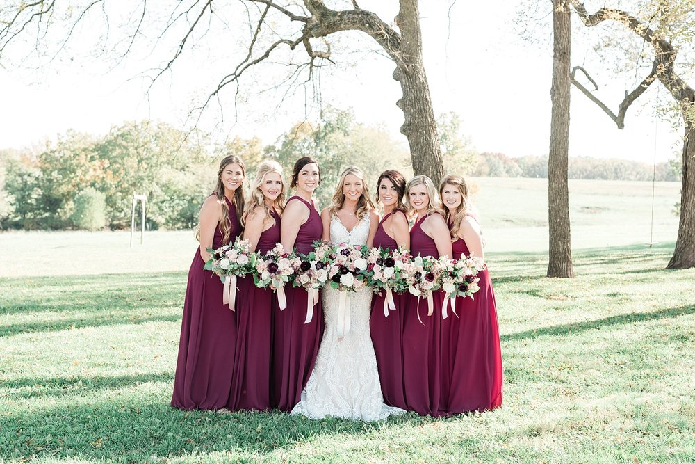 Golden Autumn Outdoor Wedding with Ivory, Bergundy, and Blush Color Palette at Blue Bell Farms  by Kelsi Kliethermes Photography_0017.jpg