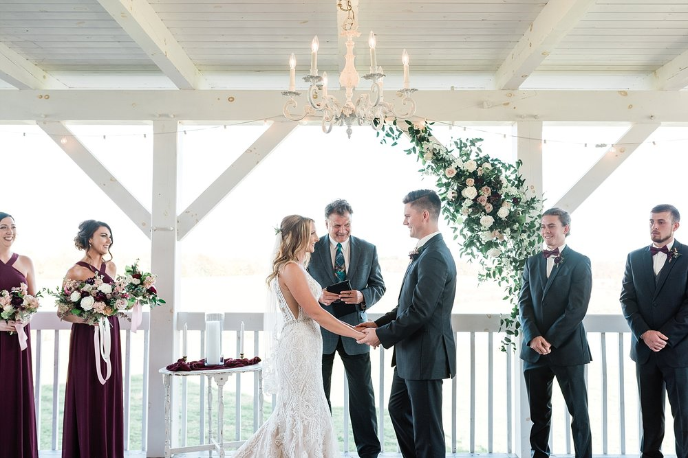 Golden Autumn Outdoor Wedding with Ivory, Bergundy, and Blush Color Palette at Blue Bell Farms  by Kelsi Kliethermes Photography_0027.jpg