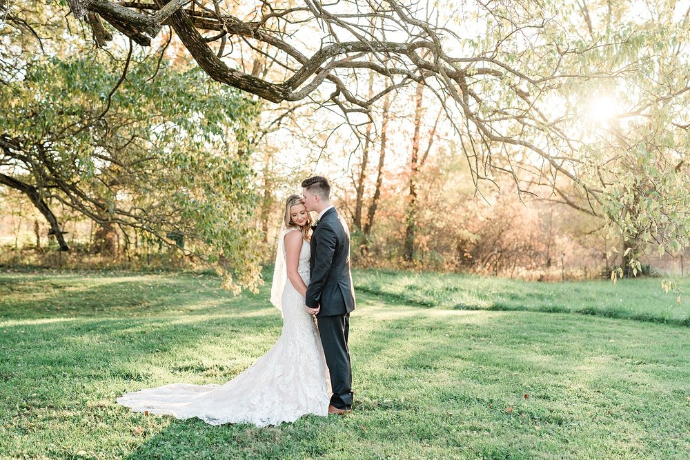 Golden Autumn Outdoor Wedding with Ivory, Bergundy, and Blush Color Palette at Blue Bell Farms  by Kelsi Kliethermes Photography_0032.jpg