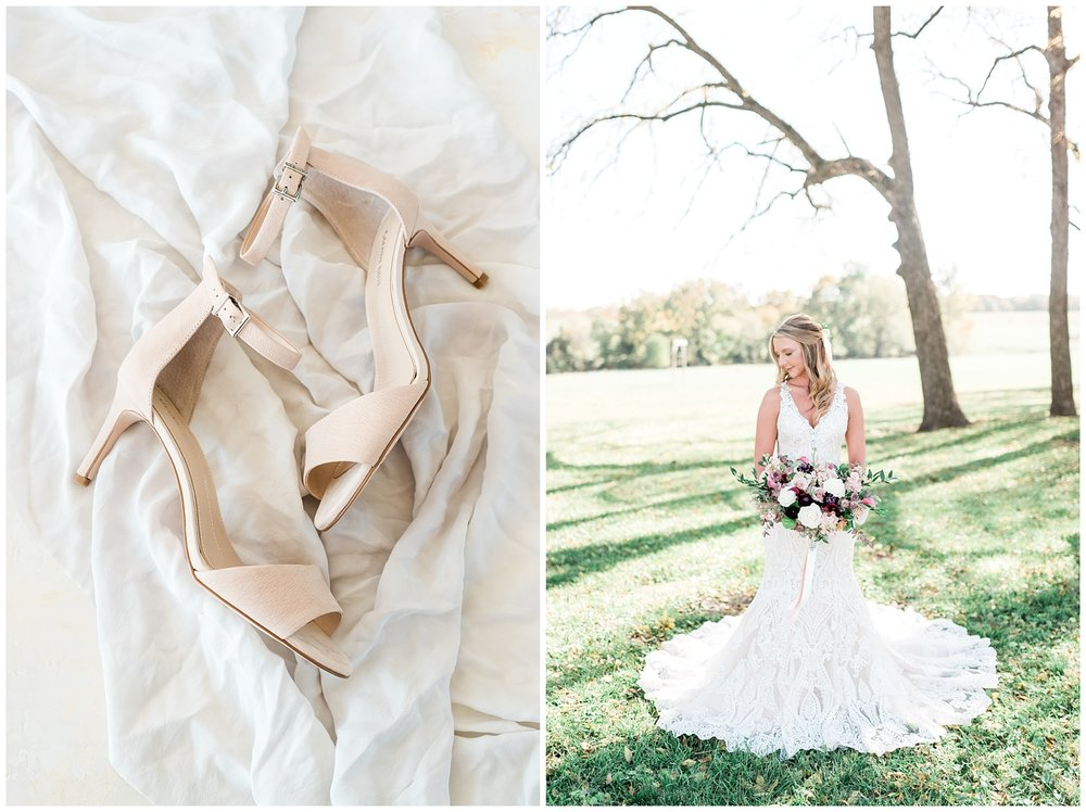 Golden Autumn Outdoor Wedding with Ivory, Bergundy, and Blush Color Palette at Blue Bell Farms  by Kelsi Kliethermes Photography_0043.jpg