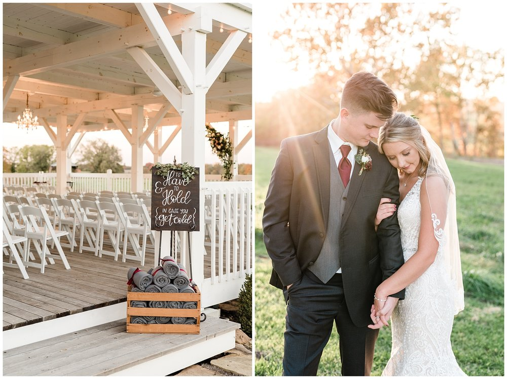 Golden Autumn Outdoor Wedding with Ivory, Bergundy, and Blush Color Palette at Blue Bell Farms  by Kelsi Kliethermes Photography_0046.jpg