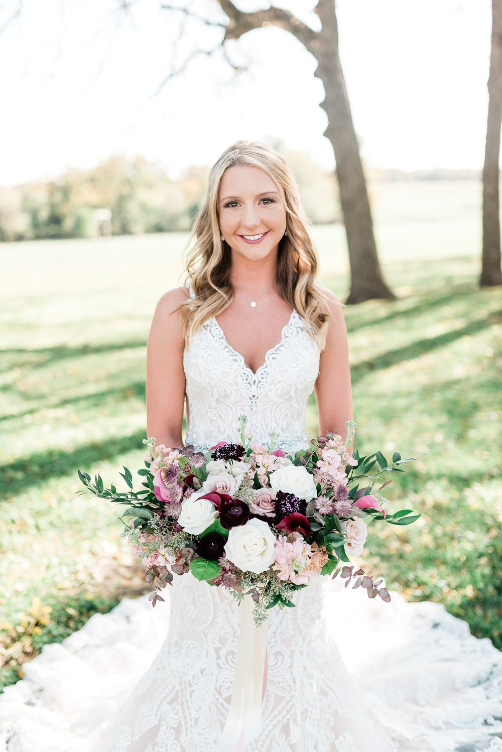 Golden Autumn Outdoor Wedding with Ivory, Bergundy, and Blush Color Palette at Blue Bell Farms  by Kelsi Kliethermes Photography_0066.jpg