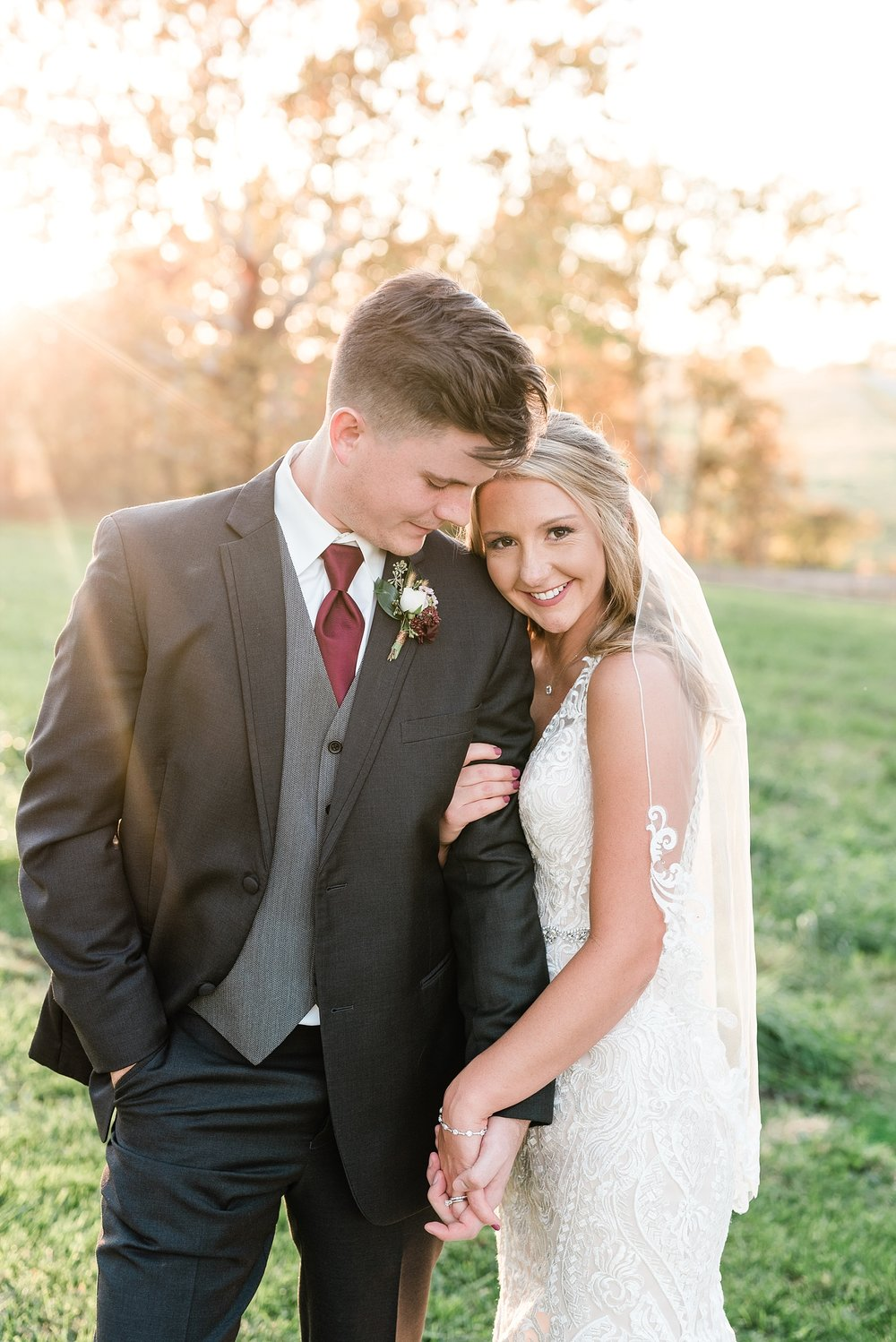 Golden Autumn Outdoor Wedding with Ivory, Bergundy, and Blush Color Palette at Blue Bell Farms  by Kelsi Kliethermes Photography_0072.jpg