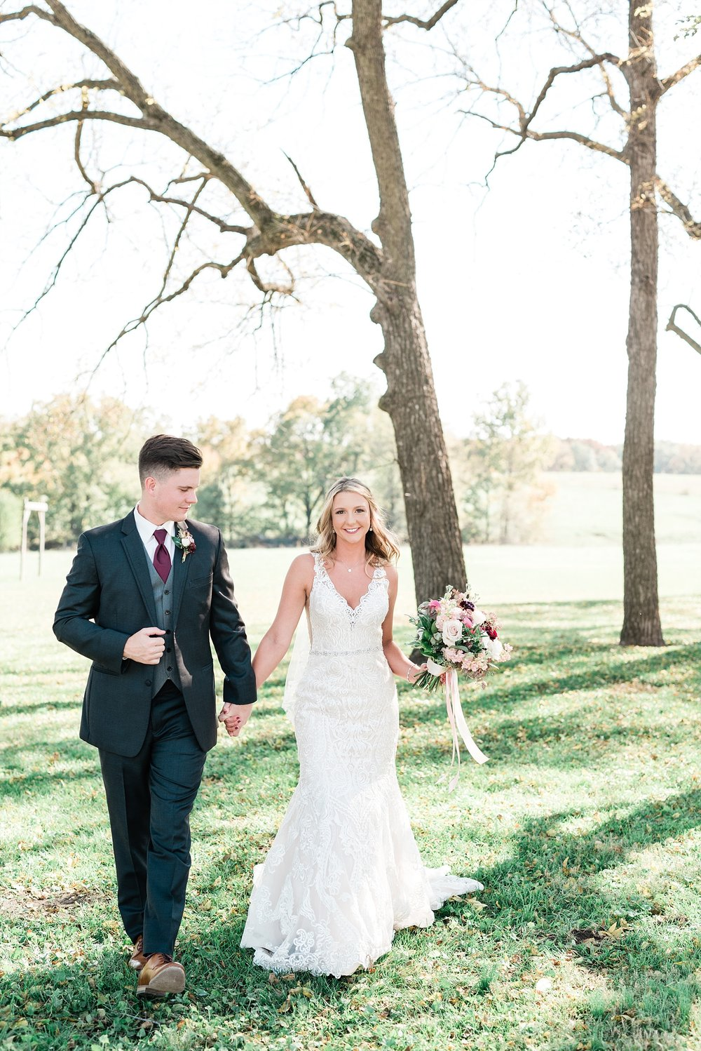 Golden Autumn Outdoor Wedding with Ivory, Bergundy, and Blush Color Palette at Blue Bell Farms  by Kelsi Kliethermes Photography_0075.jpg