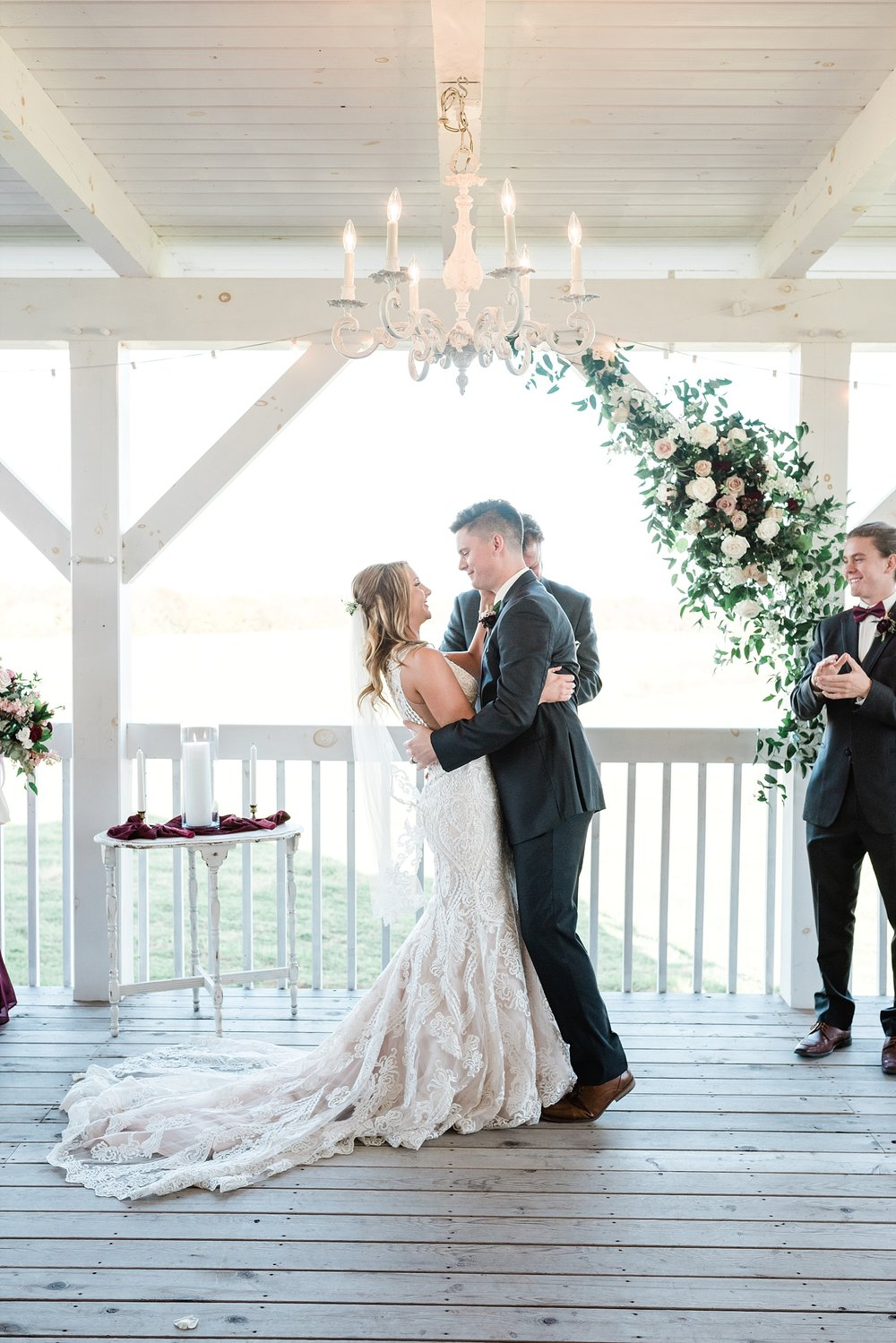 Golden Autumn Outdoor Wedding with Ivory, Bergundy, and Blush Color Palette at Blue Bell Farms  by Kelsi Kliethermes Photography_0084.jpg