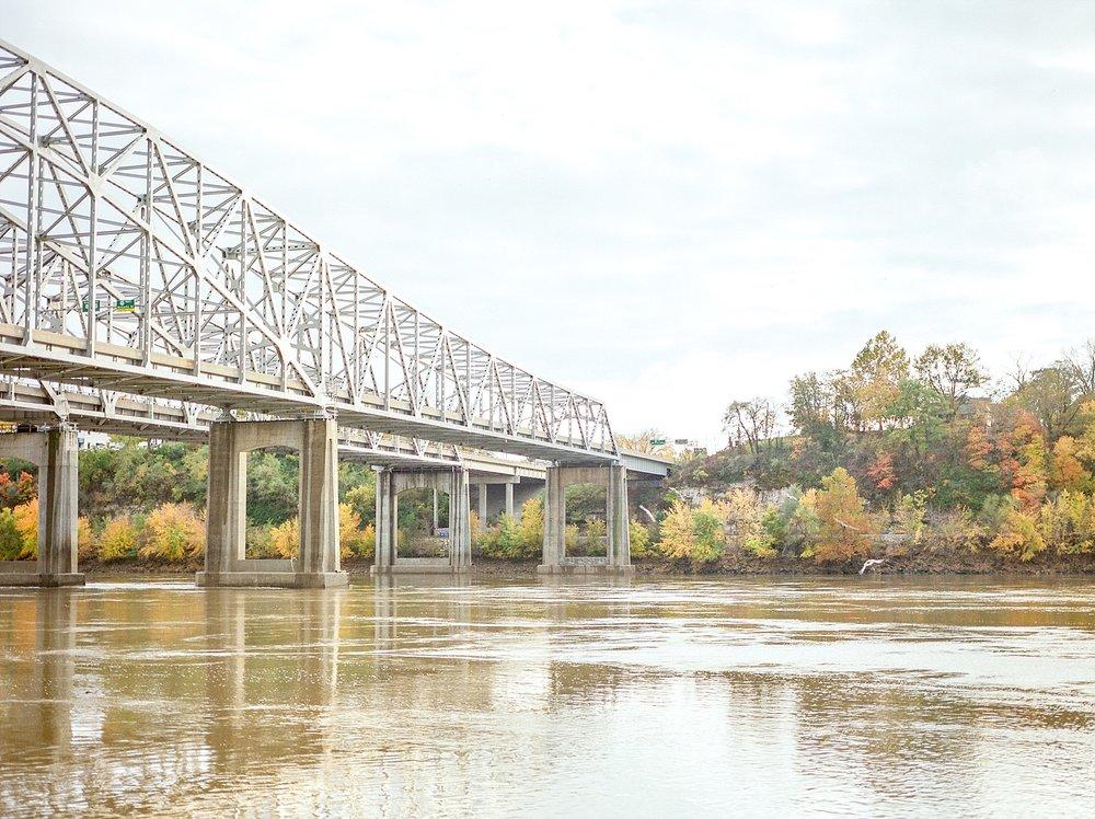 Missouri River Bride In Fall Jefferson City Missouri
