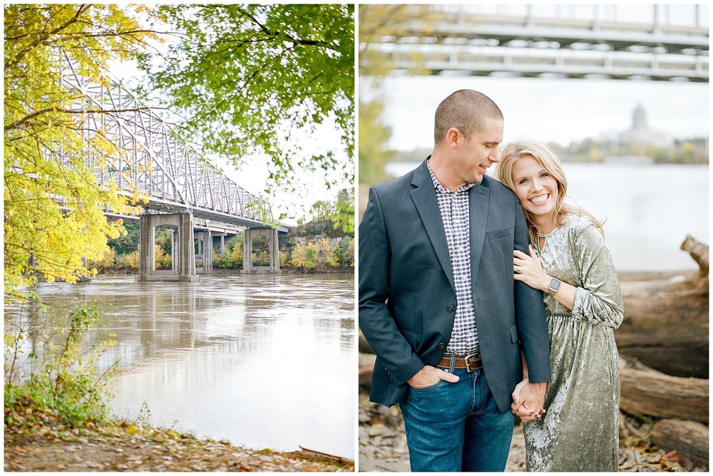 Ten Year Anniversary Session on Shore of Missouri River by Kelsi Kliethermes Photography Kansas City Missouri Wedding Photographer_0007.jpg