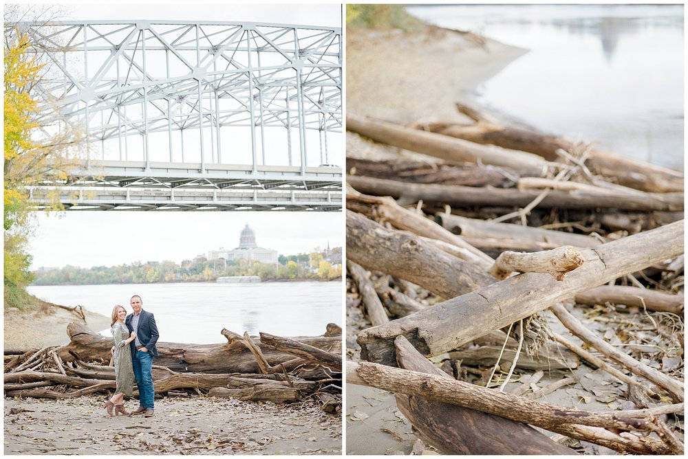Ten Year Anniversary Session on Shore of Missouri River by Kelsi Kliethermes Photography Kansas City Missouri Wedding Photographer_0006.jpg