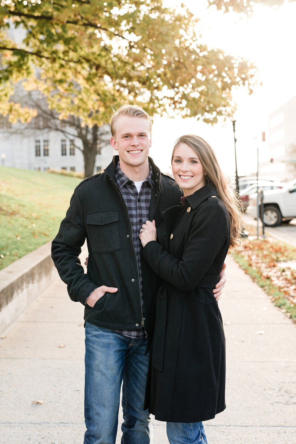 Downtown Jefferson City Engagement Session in Winter at Old Shoe Factory by Kelsi Kliethermes Photography Kansas City Missouri Wedding Photographer_0007.jpg