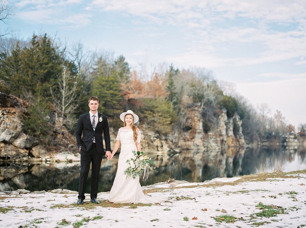 Snowy Winter Wedding at Wildcliff Events Lake With Earthy Jewel Tones and Organic Refined Style by Kelsi Kliethermes Photography Kansas City Missouri Wedding Photographer_0003.jpg