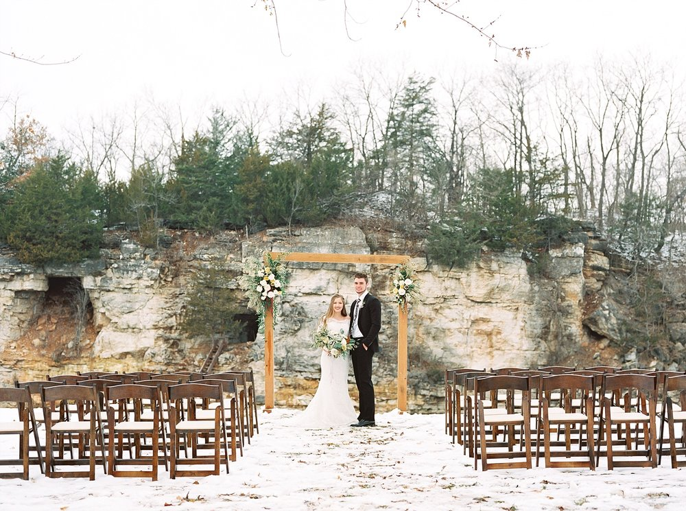 Snowy Winter Wedding at Wildcliff Events Lake With Earthy Jewel Tones and Organic Refined Style by Kelsi Kliethermes Photography Kansas City Missouri Wedding Photographer_0012.jpg