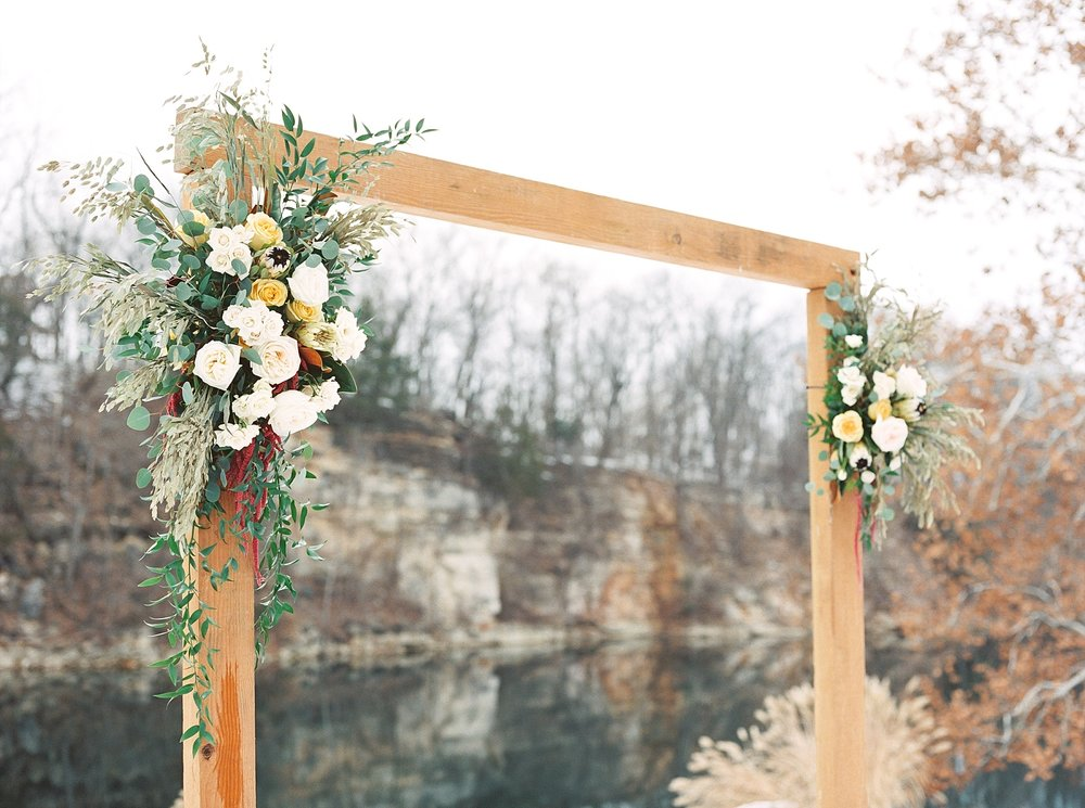 Snowy Winter Wedding at Wildcliff Events Lake With Earthy Jewel Tones and Organic Refined Style by Kelsi Kliethermes Photography Kansas City Missouri Wedding Photographer_0019.jpg