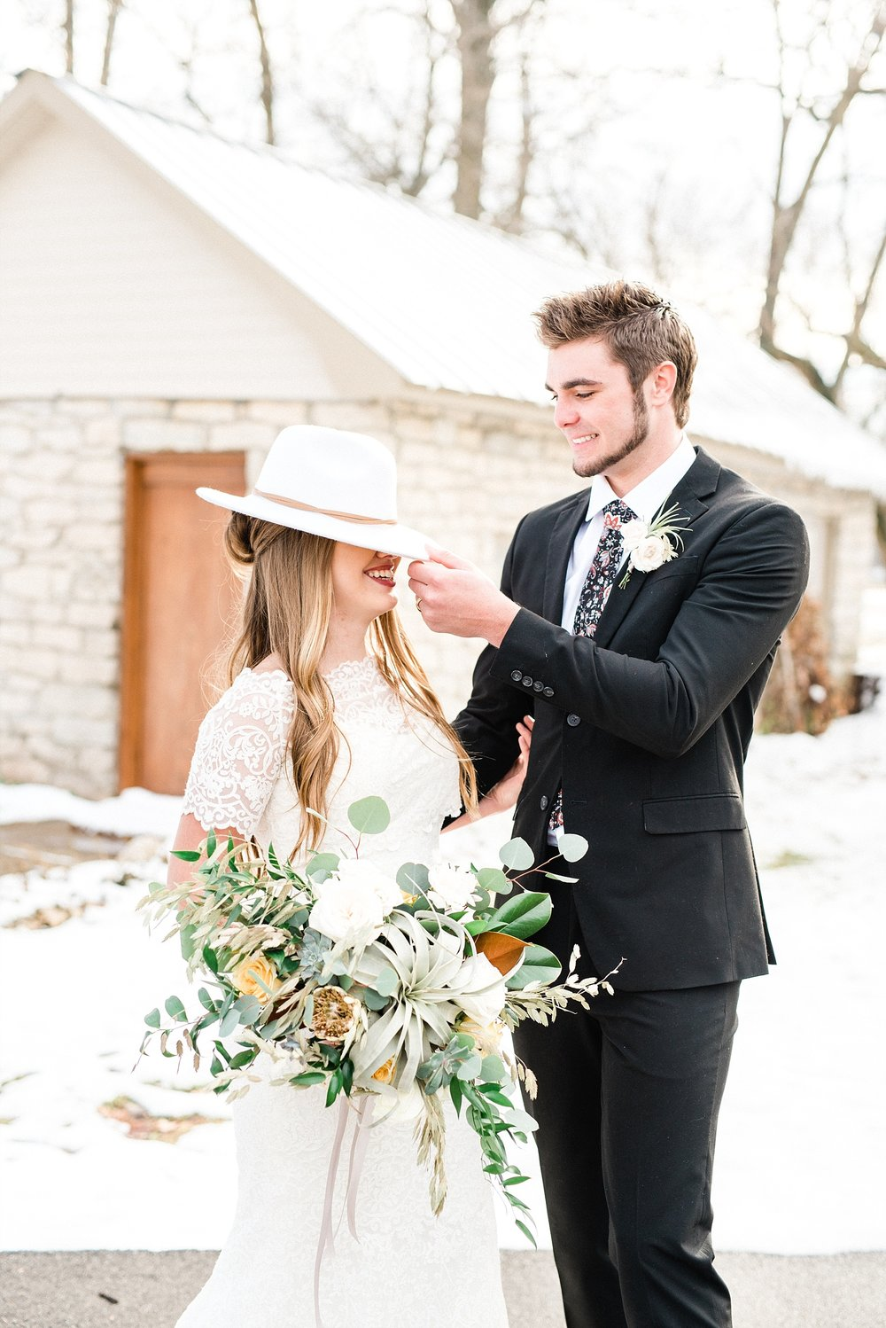 Snowy Winter Wedding at Wildcliff Events Lake With Earthy Jewel Tones and Organic Refined Style by Kelsi Kliethermes Photography Kansas City Missouri Wedding Photographer_0073.jpg