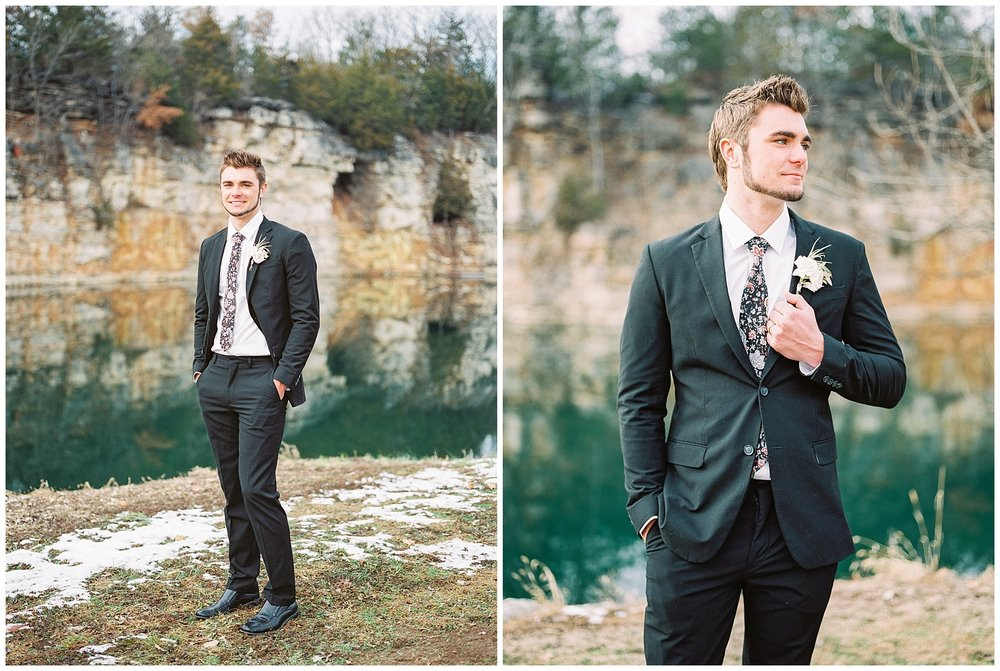 Snowy Winter Wedding at Wildcliff Events Lake With Earthy Jewel Tones and Organic Refined Style by Kelsi Kliethermes Photography Kansas City Missouri Wedding Photographer_0083.jpg