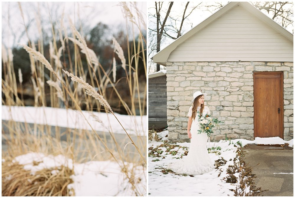 Snowy Winter Wedding at Wildcliff Events Lake With Earthy Jewel Tones and Organic Refined Style by Kelsi Kliethermes Photography Kansas City Missouri Wedding Photographer_0086.jpg