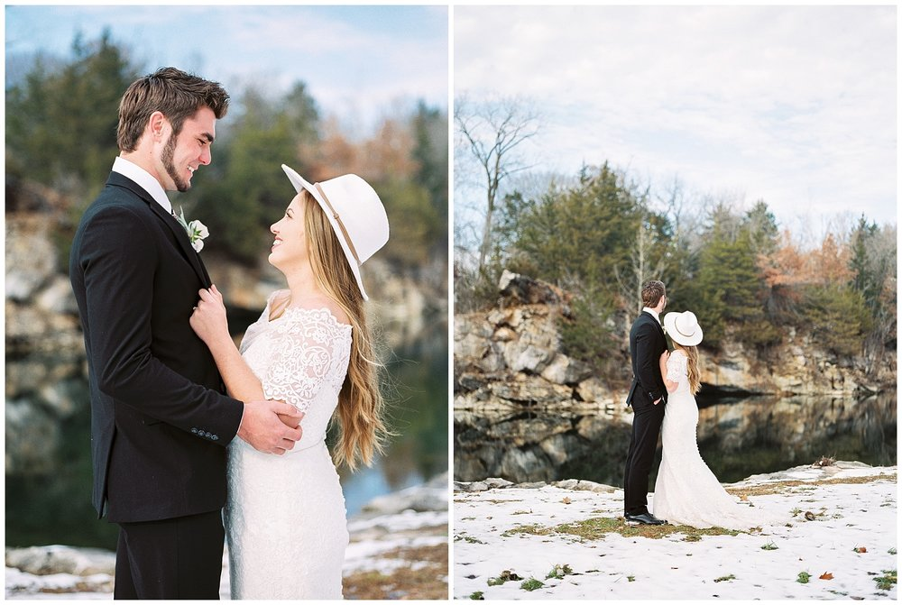 Snowy Winter Wedding at Wildcliff Events Lake With Earthy Jewel Tones and Organic Refined Style by Kelsi Kliethermes Photography Kansas City Missouri Wedding Photographer_0094.jpg