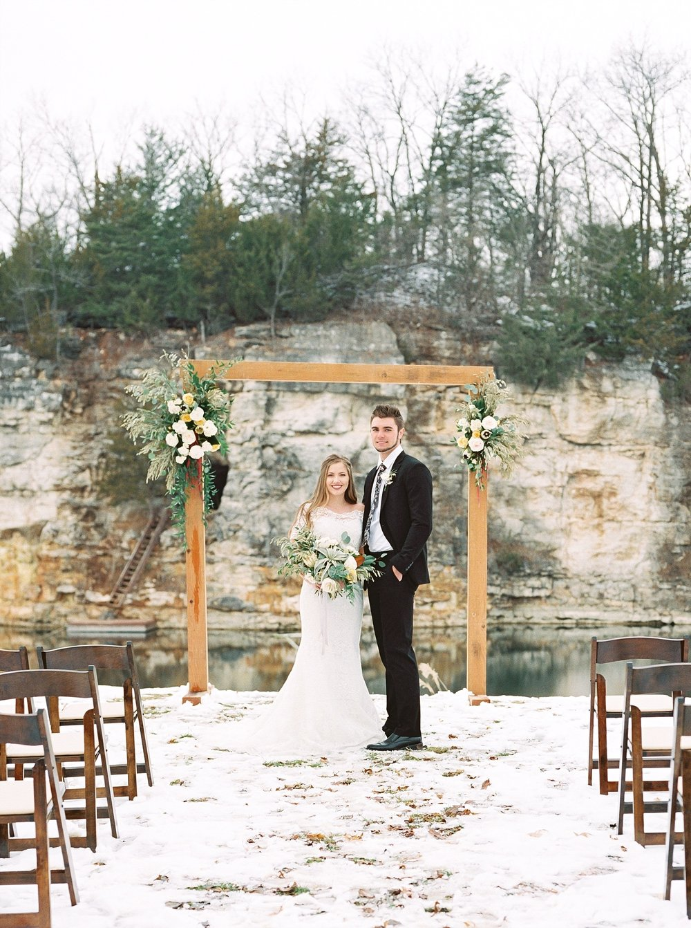 Snowy Winter Wedding at Wildcliff Events Lake With Earthy Jewel Tones and Organic Refined Style by Kelsi Kliethermes Photography Kansas City Missouri Wedding Photographer_0121.jpg