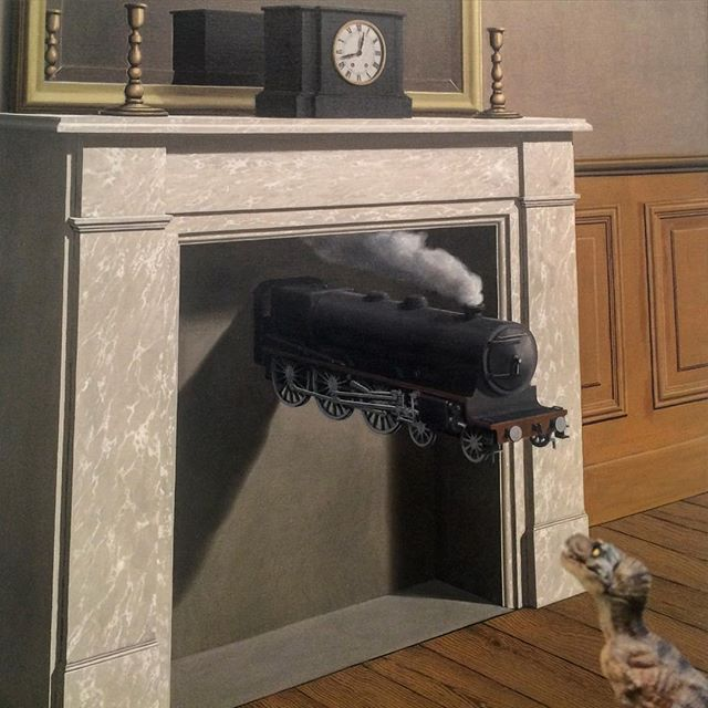 René Magritte, Time Transfixed . Oil on canvas. (1938)