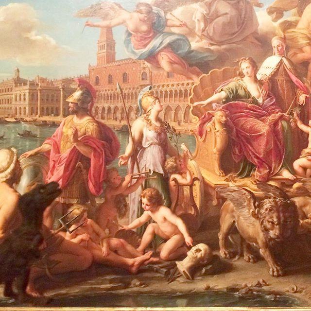 Detail. Pompeo Girolamo Batoni, The Triumph of Venice . Oil on canvas. (1737)