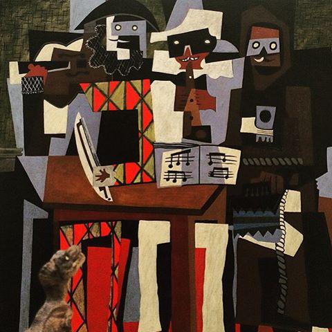 Pablo Picasso,  Three Musicians . Oil on canvas. (1921)