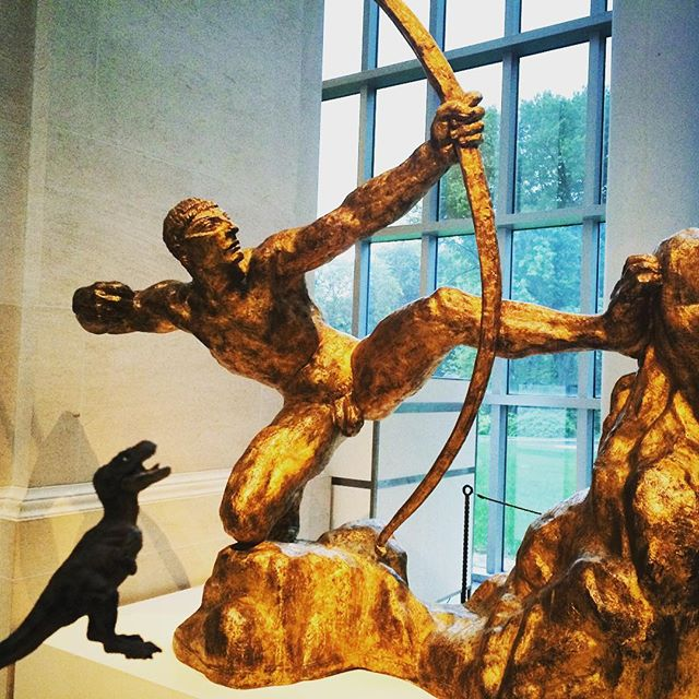Antoine-Emile Bourdelle,  Herakles the Archer . Gilt bronze. (1909)