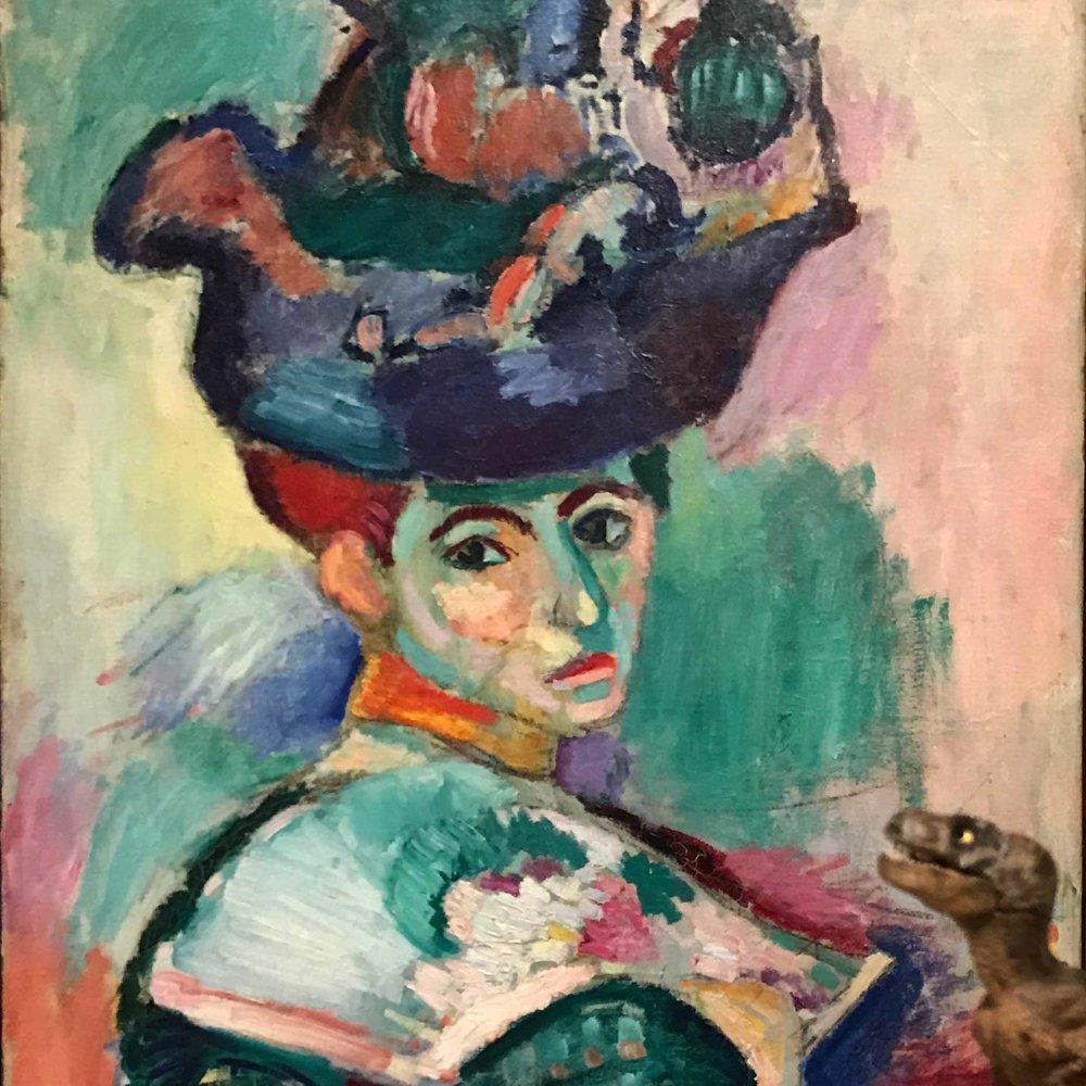 Henri Matisse,  Femme au Chapeau  (Woman with a Hat), 1905.