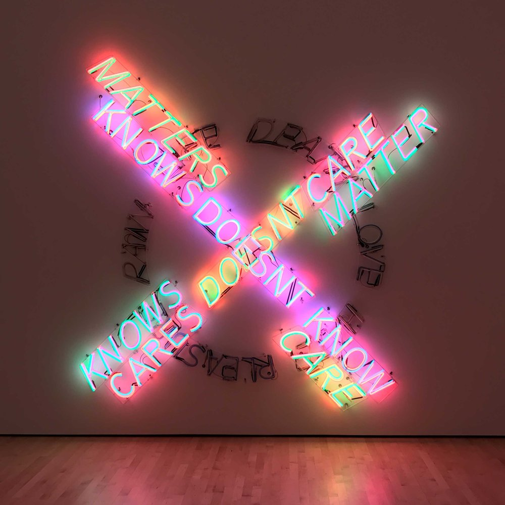 Bruce Nauman,  Life Death/Knows Doesn't Know , 1983.