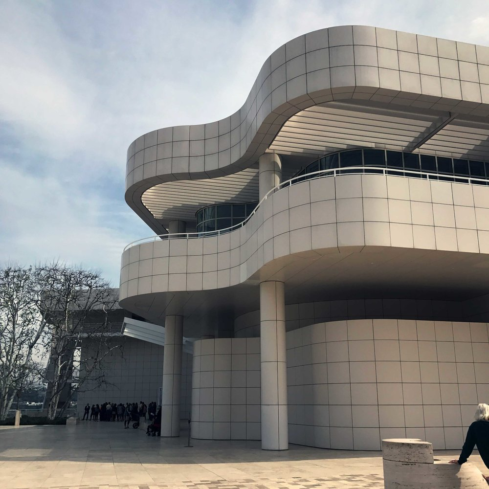 "The ""piano curve"" of the Getty Center's Entrance Hall"
