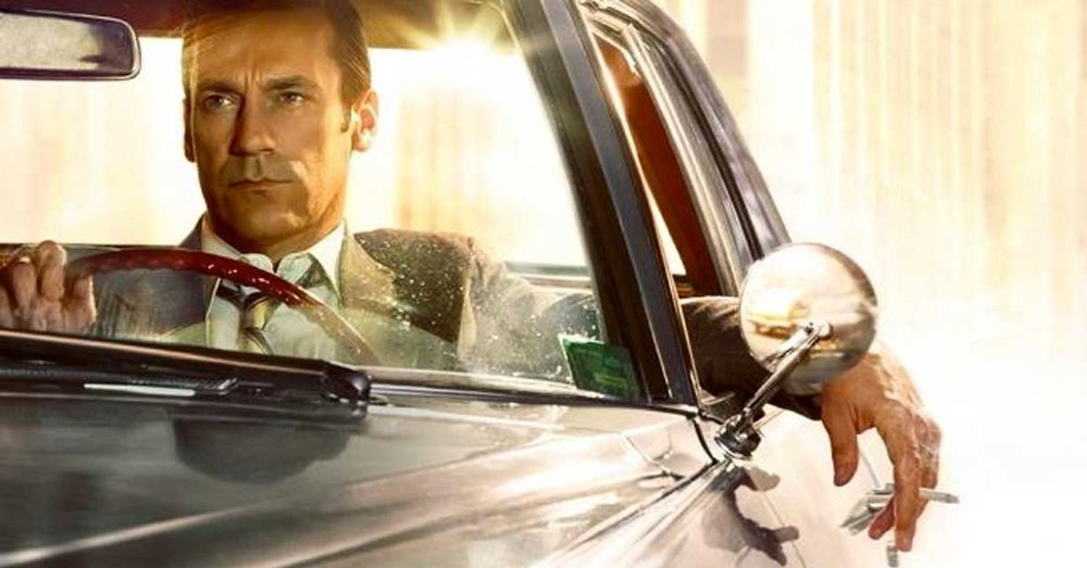 """Nothing behind me, everything ahead of me, as is ever so on the road."" - Jack Kerouac (Image of Don Draper/Mad Men courtesy of AMC.)"