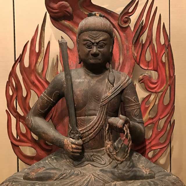 The Buddhist deity Achala Vidyaraja (Japanese: Fudo Myoo) , 1100-1185. Japan, Heian period.