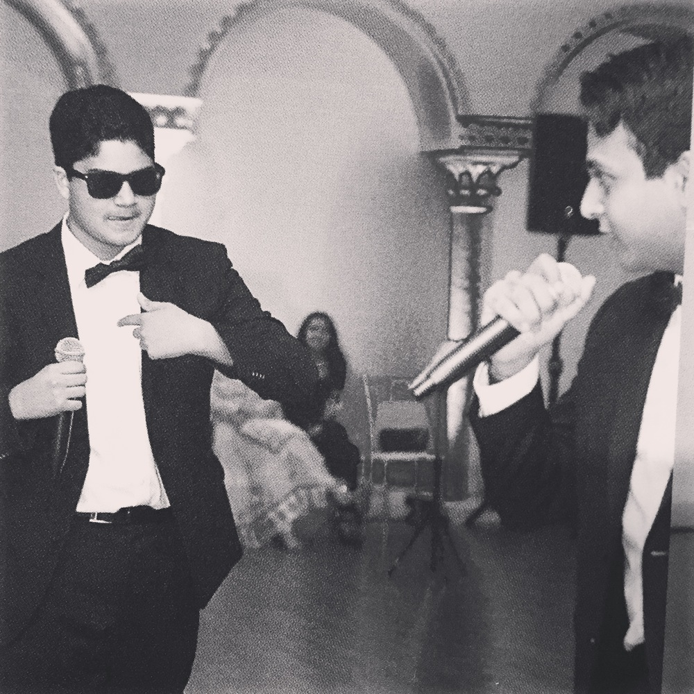 My brother and I rapping at my moms 50th birthday party last May.