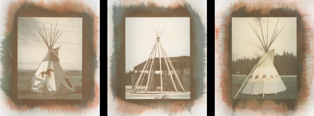 """They Dwell . Creston, Montana;Gray Wolf Peak Casino, Missoula, Flathead Reservation, Montana;Martin City, Montana. 5""""×7"""""""