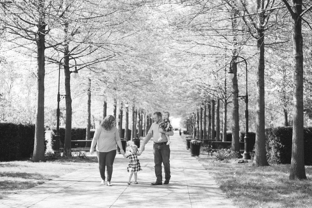 Walking at Vander Veer park