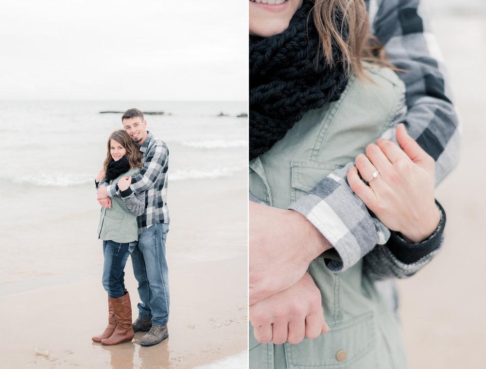 2 iowa wedding photographer - milwaukee engagement - atwater beach engagement pictures10.jpg