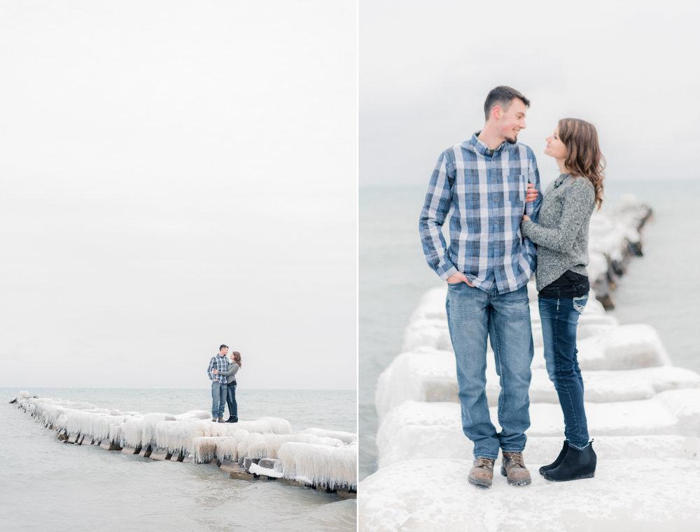 2 iowa wedding photographer - milwaukee engagement - atwater beach engagement pictures3.jpg