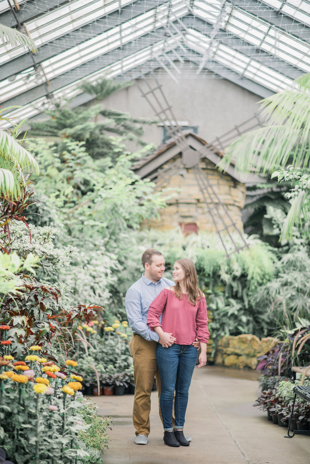 A greenhouse is another great option for portrait locations if the forecast is calling for rain.