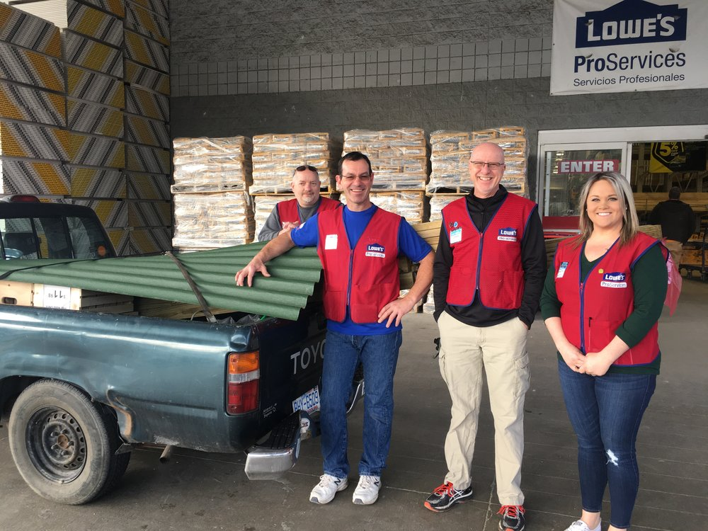 These folks from Lowe's on Tunnel Road in Asheville made the in-store purchasing experience go smoothly. They ensured we had what we needed and were loaded safely, ready to go.
